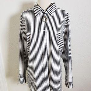 Chaps Classics Black & White  Stripe2X
